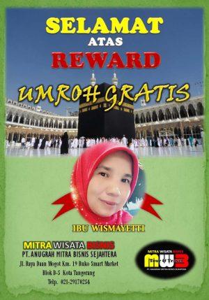 REWARD UMROH IBU WISMAYETTI